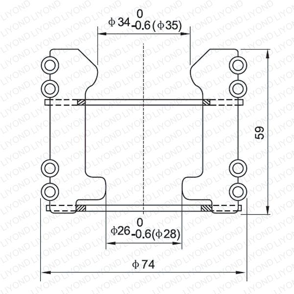 Contacting finger for vacuum circuit breaker LYA104
