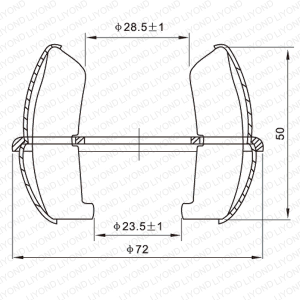 GC4-1000A shaped club contact of vacuum circuit breaker LYA203
