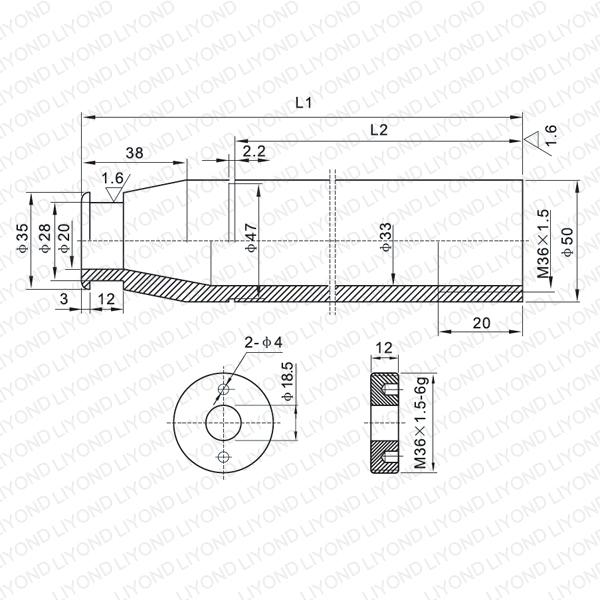 LYB212-LYB216  VD4 vacuum circuit breaker contact arm