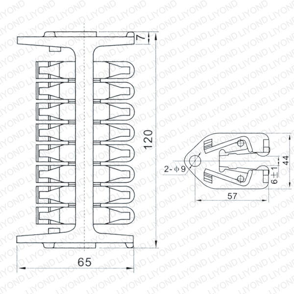 WCD-1600 Longitudinal rotary contact with 16 sheets