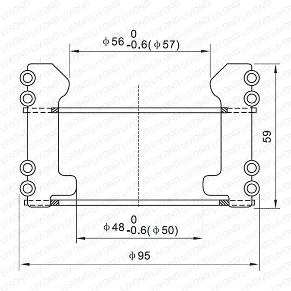 Cluster contact for vacuum circuit breaker LYA111