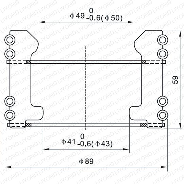 Copper tulip contact for vacuum circuit breaker LYA123