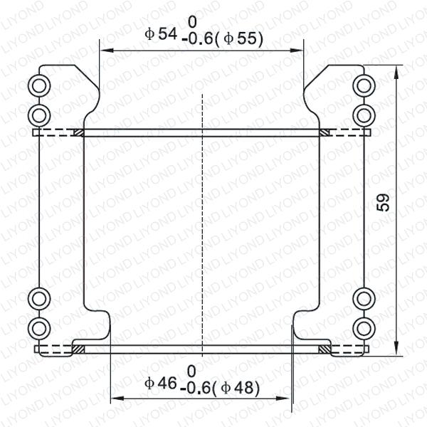 Tulip finger contactor for vacuum circuit breaker LYA124