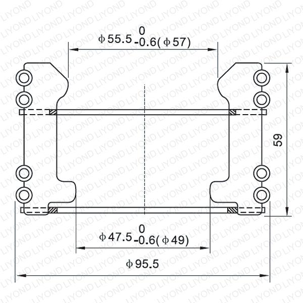 Tulip jaw contact for vacuum circuit breaker LYA122
