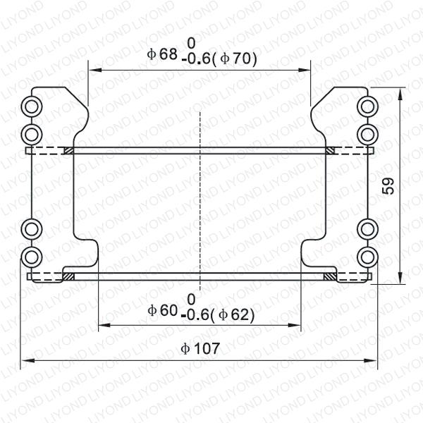 Tulip round contact for vacuum circuit breaker LYA112