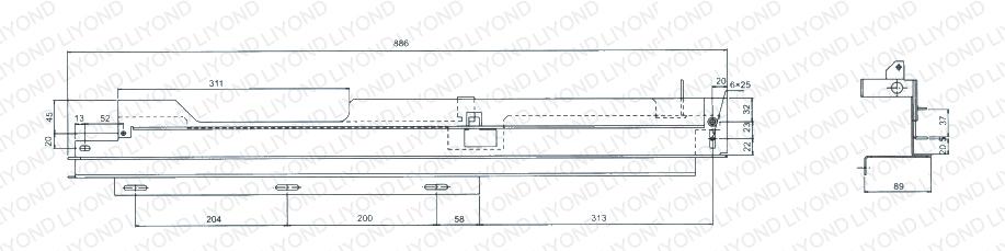 guide rail in switchgear 5XS.260.010 011.3