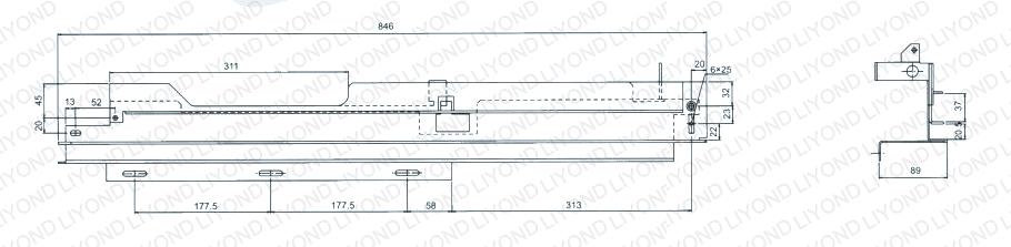 guide rail in switchgear 5XS.260.010 011.4