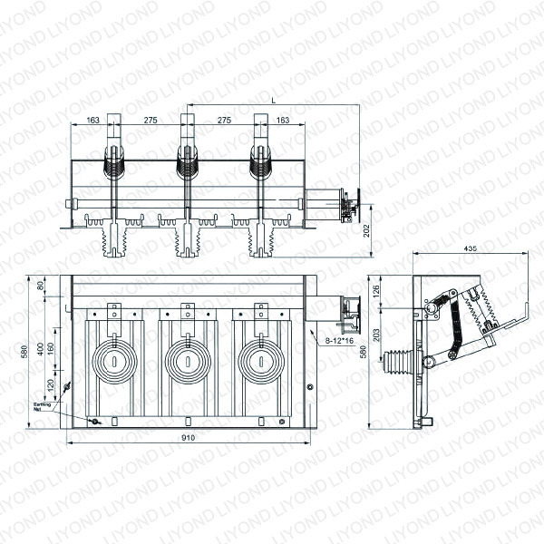 GN38-24D Series Top Indoor High Voltage isolating switch-1