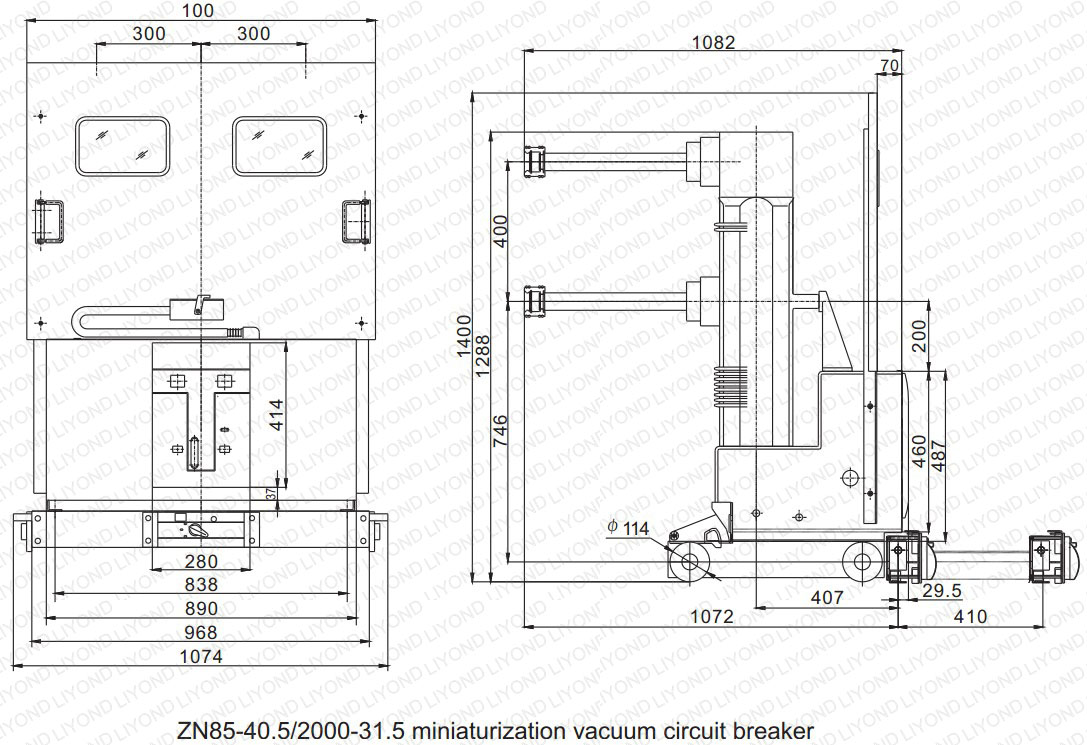 Switchgear Accessories Yueqing Liyond Electric Co Ltd Circuit As Well High Voltage Diagram On Drawing2 Zn85 405 Indoor Vacuum Breaker