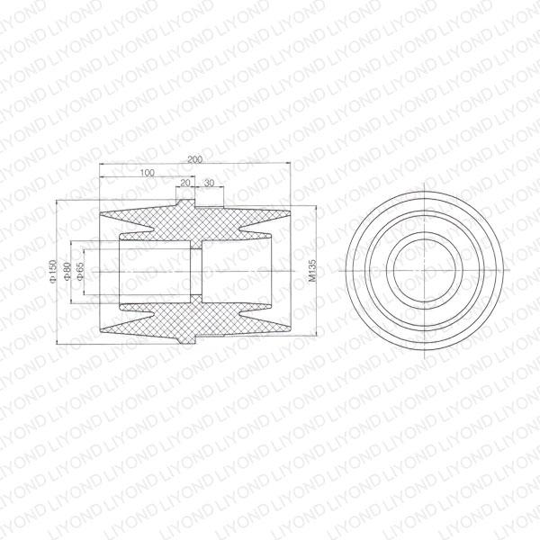 12kv insulating sleeve lyc187 for switchgear