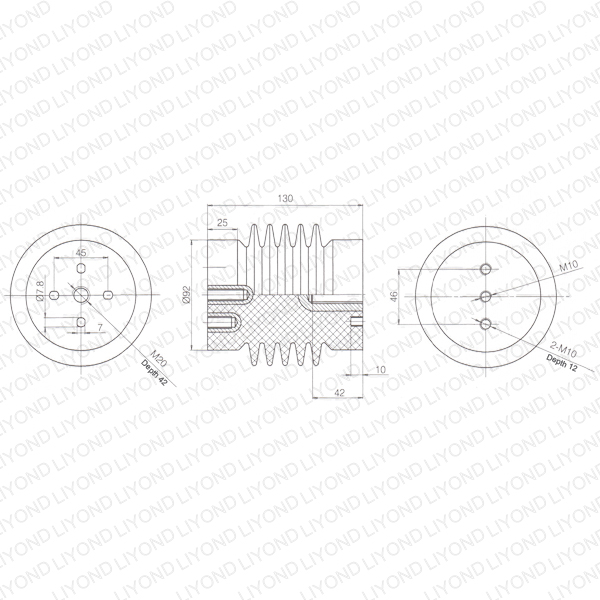 abb electric post insulator epoxy resin lyc329
