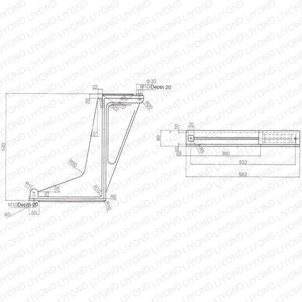Bending plate insulator for 1.2 cabinet LYC260