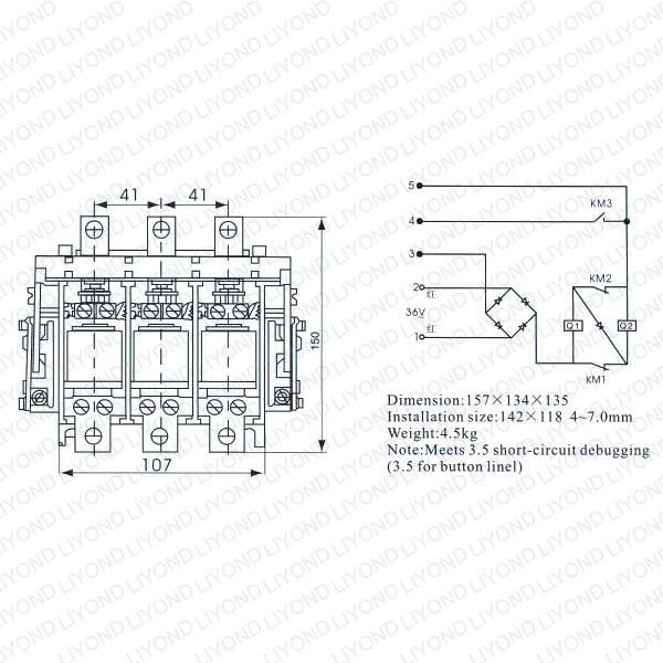 CKJ5-63,80,125,250,400,630A AC L.V. Vacuum Contactor8