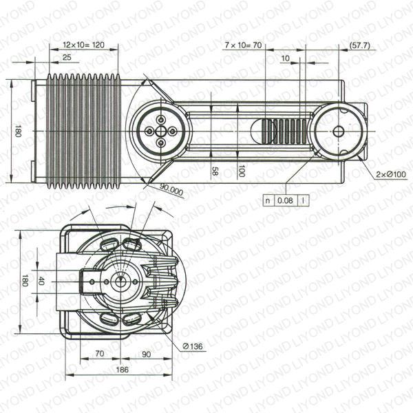 Cabinet cylinder insulated HV distribution LYC391