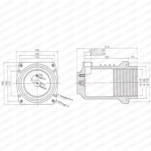 Contact box for KYN28 switchgear plateau LYC231