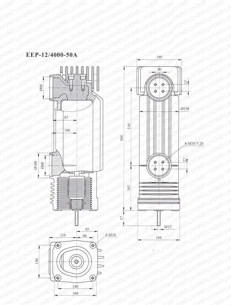 12kV EEP-12-4000-50A embedded cylinder for vacuum circuit breaker
