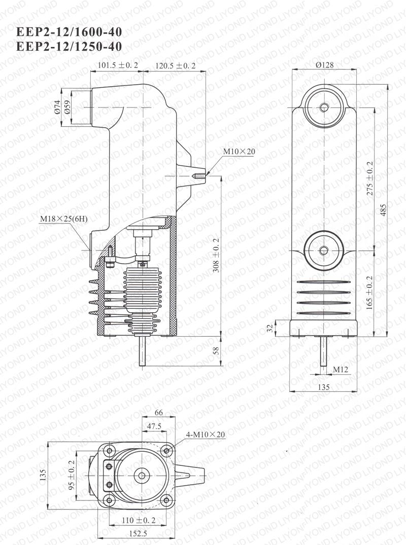 epoxy embedded pole for vacuum circuit breaker