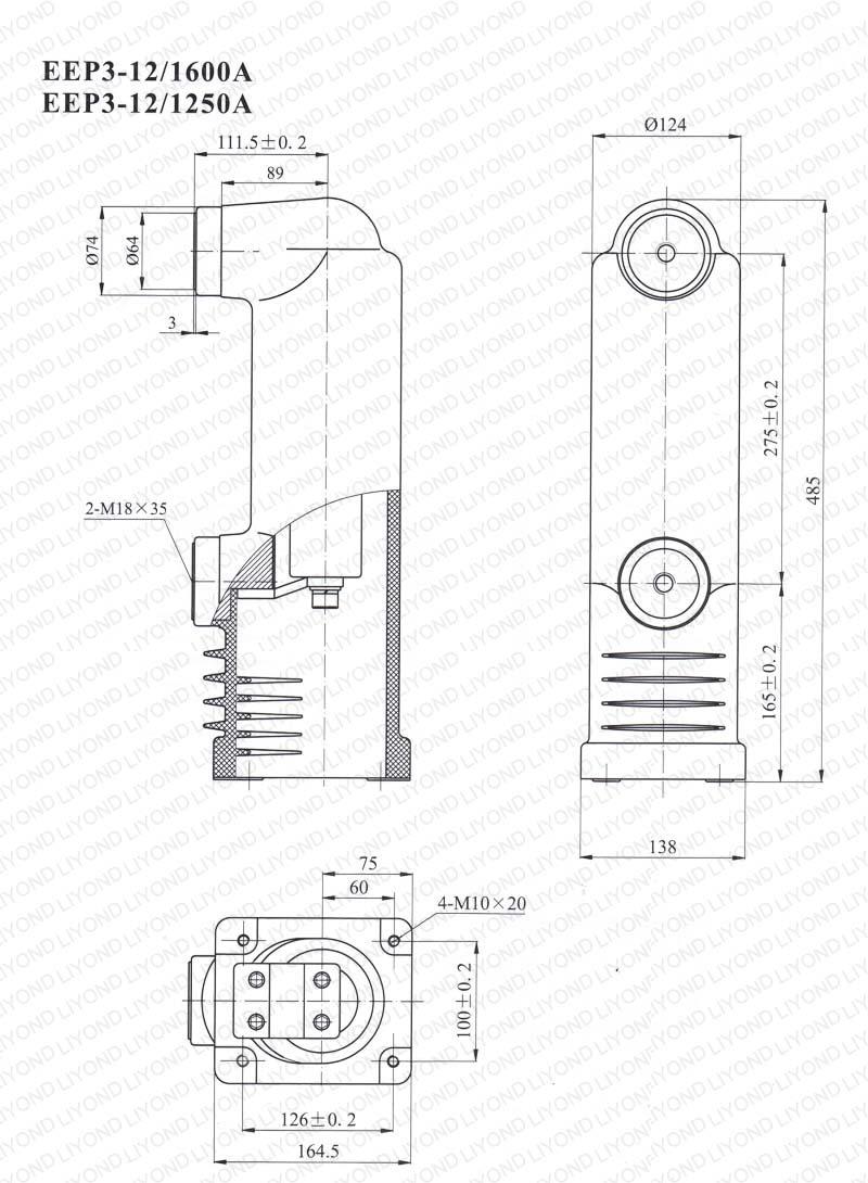 12kv solid pole for vacuum circuit breaker