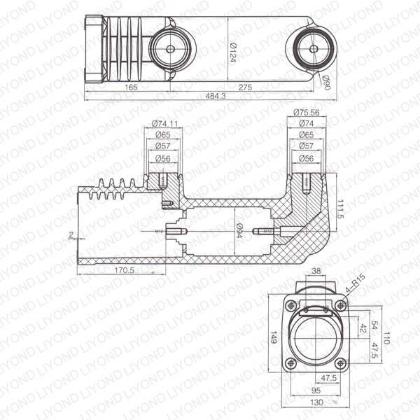 embedded poles electric distribution box lyc394