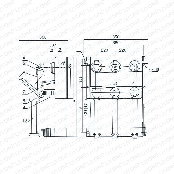 FN3-12KV Series Indoor H.V. Load Breaking Switch-3