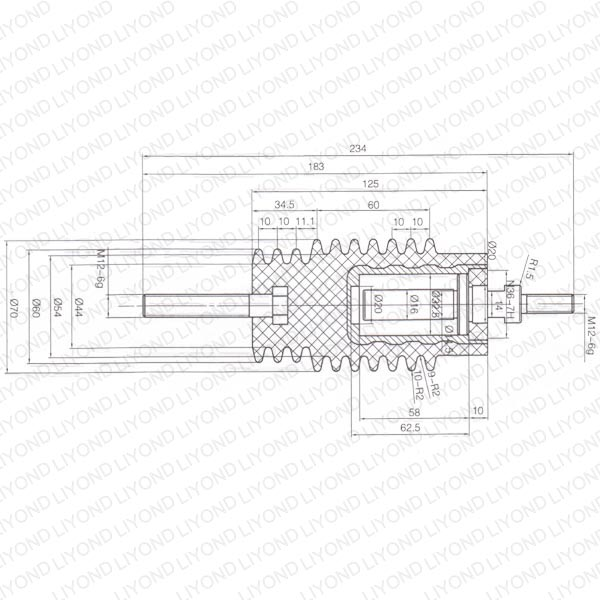 Insulating rod resin material switchgear LYC288