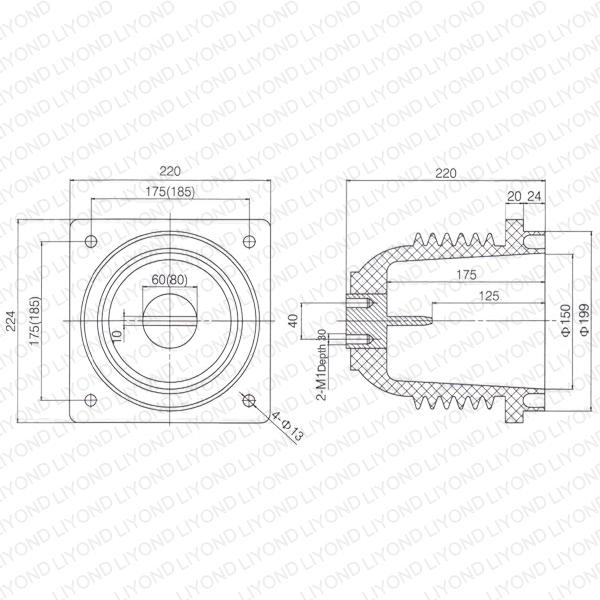 KYN1 cabinet insulator epoxy contact box LYC236