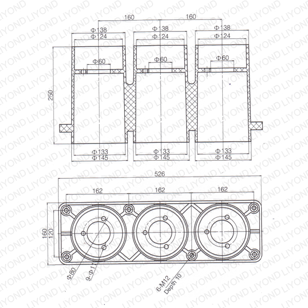 KYN28 cabinet F-C circuit contact box LYC234