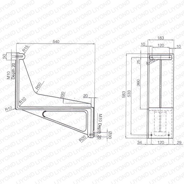 KYN61 cabinet epoxy resin bent plate LYC261