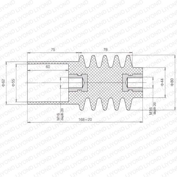 pull rod high voltage vacuum circuit breaker lyc410