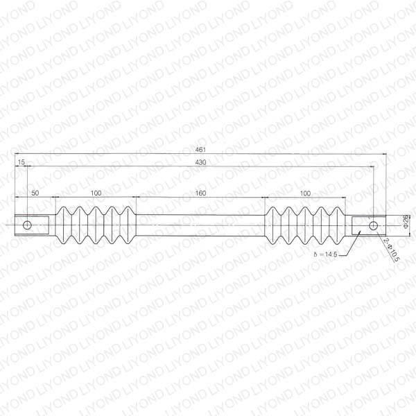Radius link for HV power switchgear LYC441