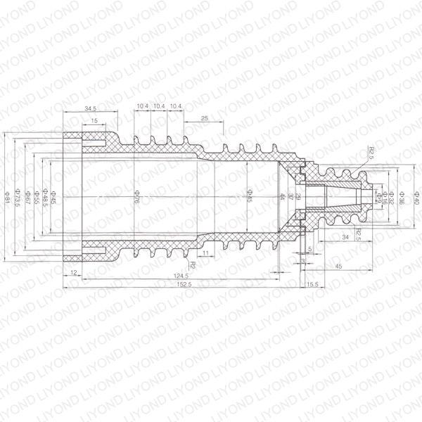 Red cylinder insutalor vacuum circuit breaker LYC384