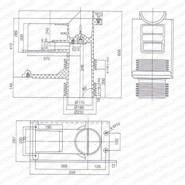 Terminal encloseure contact box ABB cabinet LYC264