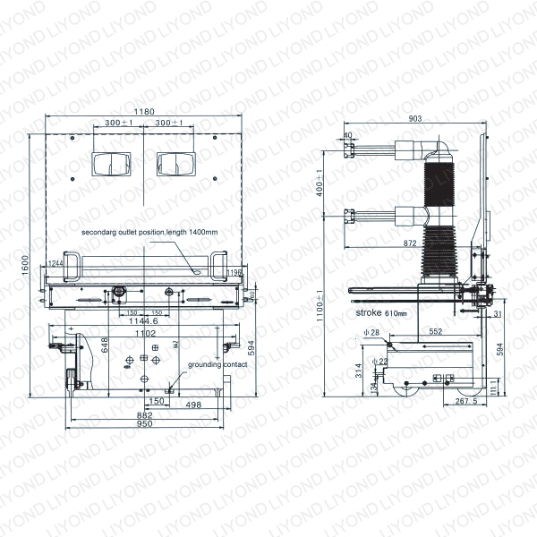 40 5kv vacuum circuit breaker