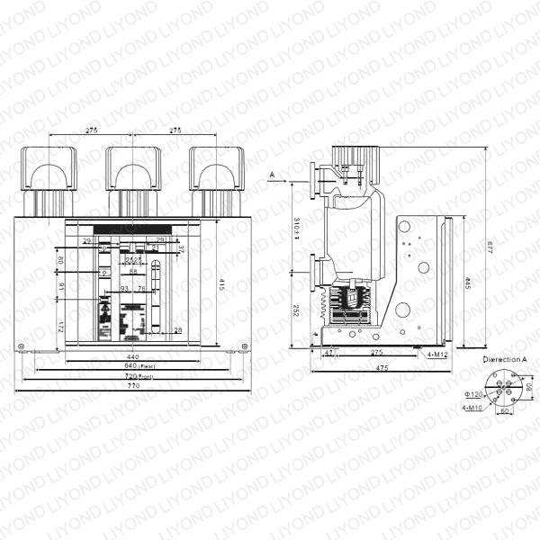 high voltage vacuum circuit breaker