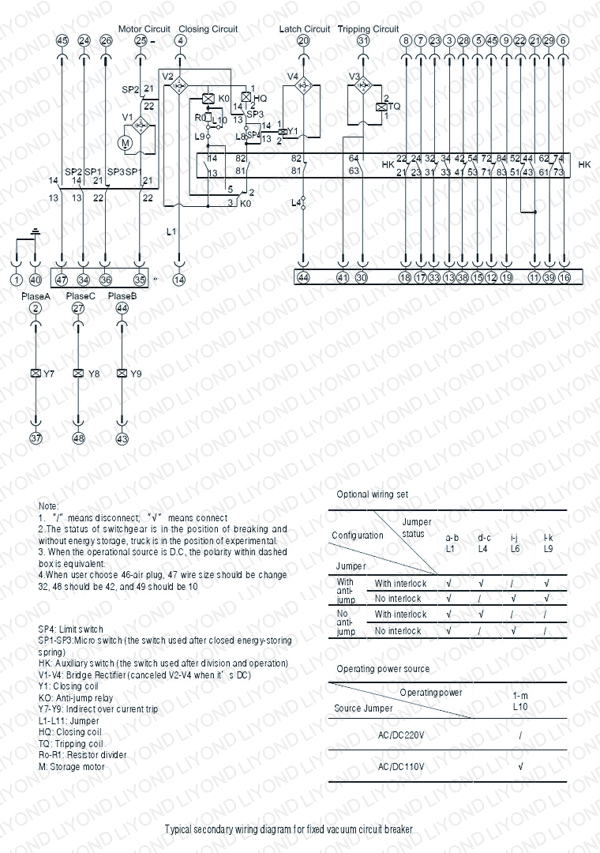 Instrument Transformer Wiring Diagram : Wiring diagrams for medium voltage switchgear
