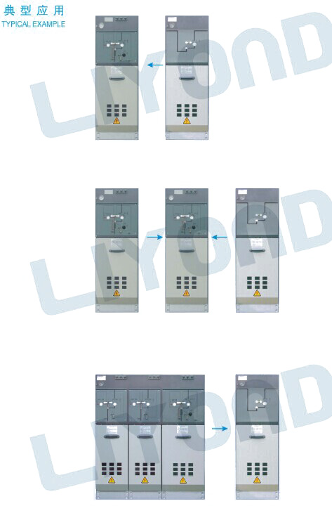 common gas tank switchgear SF6 for insulating and sealing RMU series ormazabal series