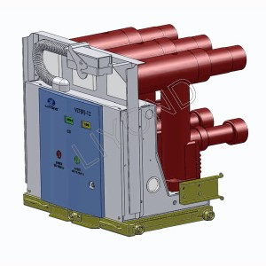 VZF(R)-12 series centrally installed embedded pole vacuum load break-fuse combination device