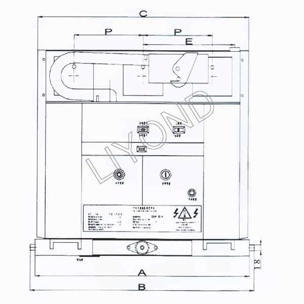 VZF(R)-12系列 - 中央安装的嵌入式极 - 真空 - 负载 - 断路 - 熔断器 - 组合 - 装置 - 绘图