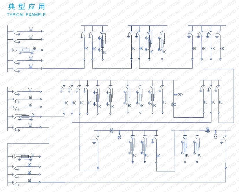 circuit diagram-LKC2K-common-gas-tank-switchgear-SF6-for-insulating-and-sealing-RMU-series-ormazabal-series-6