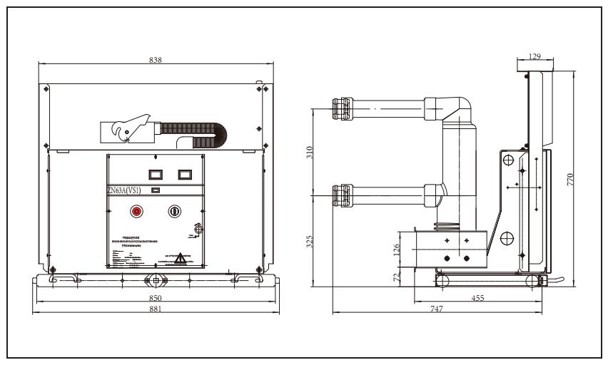 Vs1 24 Series Of Indoor H V Vacuum Circuit Breaker With